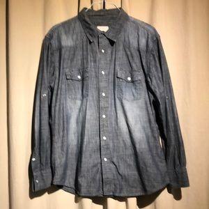 PD&C - Men's Pearl Snap Blue Denim Shirt
